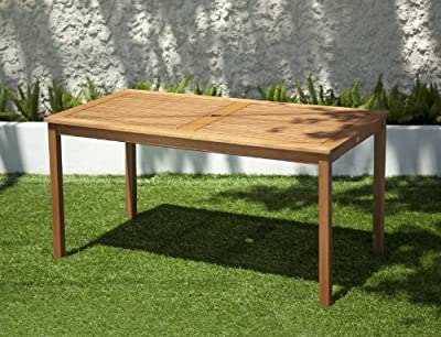 ScanCom Chichester FSC Eucalyptus Wood Outdoor 6 Seater Dining Table with Parasol Hole