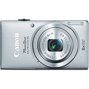 Canon PowerShot ELPH 115 16MP Digital Camera (Silver)