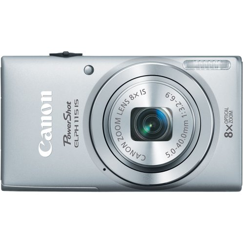 51b%2B7BExcGL Canon PowerShot ELPH 115 IS16MP Digital Camera (Silver)