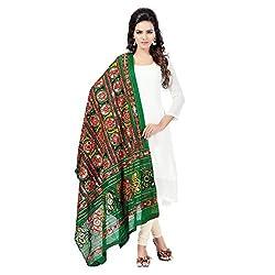Banjara WomenS Cotton Stoles & Dupattas Kutchi Bharchak (Vip05 _Dark Green _Handicraft Dupatta_Free Size)