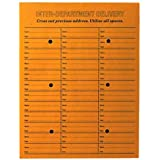 "Inter-Departmental Envelopes, 3-Across, String/Button Closure, 10""x13"", 100/Box QUA63562"