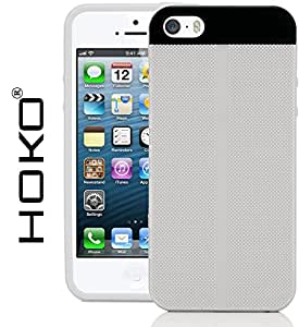 iPhone 5s Case, HOKO® Fusion Hybrid (Exact-Fit) Grip TPU Hybrid Back Case Cover For Apple iPhone 5s (White)