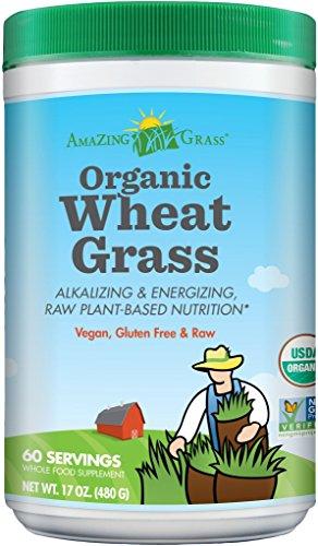 Amazing Grass Organic Wheat Grass Powder, 60 Servings, 17-oz