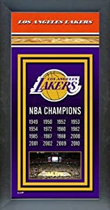 Los Angeles Lakers Framed Team Championship Banner Series