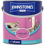 Johnstones No Ordinary Paint Water Based Interior Soft Sheen Emulsion Passion Pink 2.5 Litre