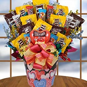 America's Favorite Candies M&M Gourmet Candy Gift Basket