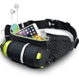 Fanny Pack MY CARBON Water Resiststant Bag Night Running Reflective Safty with Water Bottle Holder Fits iPhone 6 Plus Galaxy S5,S6,Note 4/5 Great for Running Hiking Cycling Travel Leisure Activities