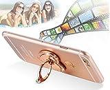 Amazon.co.jpETGtek(TM) 2PCSユニバーサルローズ指スタンドブラケットバックルフラワーリングカースタンダー携帯電話ホルダー