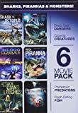 6-Movie Pack: Sharks Piranhas & Monsters [DVD] [Region 1] [US Import] [NTSC]