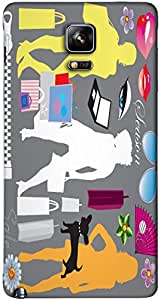 Timpax protective Armor Hard Bumper Back Case Cover. Multicolor printed on 3 Dimensional case with latest & finest graphic design art. Compatible with Samsung Galaxy Note 4 Design No : TDZ-28750