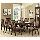 Woodmont Solid Wood Walnut Finish Formal 9-Piece Dining Set