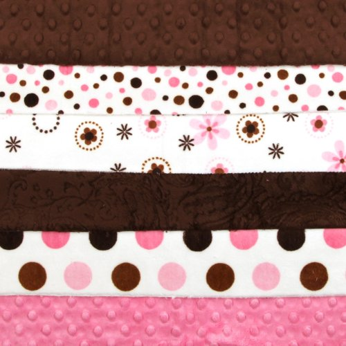 Cuddle Strip Quilt Kit For Kids w/Pattern Mocha/Pink By The Each