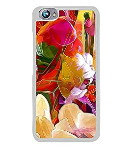 Bright Colourful Flower Pattern 2D Hard Polycarbonate Designer Back Case Cover for Micromax Canvas Fire 4 A107