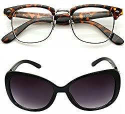Redix Traditional New Combo Tiger frame Transparent And Cat Eye Sunglasses