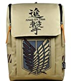 Large Capacity Attack on Titan Backpack Canvas Rucksack Anime Book Bag Laptop Bag