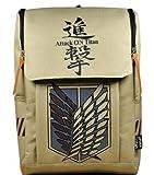 Large Capacity Attack on Titan Backpack Canvas Rucksack Anime Book Bag Laptop Bag