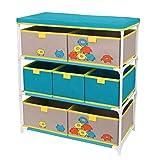 Je Cherche une Idée GLO6076 - Mobiletto per bambini, in poliestere, 60 x 30 x 63 cm