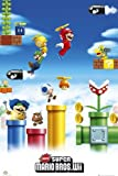 Maxi Poster featuring the Legendary Super Mario Brothers in the New Wii Computer Game 61x91.5cm