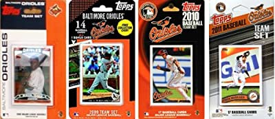 MLB 4 Different Licensed Trading Card Team Sets