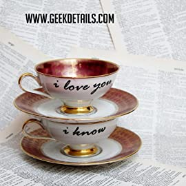 Red I Love You I know Teacup Set
