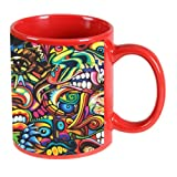 Printland Unique Red Coffee Mug 350 ml