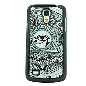Sketch the Triangle Eye Leather Vein Pattern Hard Case for Samsung Galaxy S4 Mini I9190