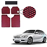 Allure Auto Red Oval Circle Odourless Car Floor / Foot Mats 5 Pcs Set for Toyota Landcruiser 200