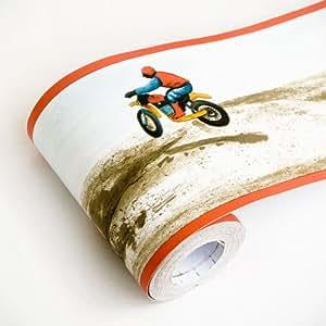 Motor Rally - Self-Adhesive Wallpaper Borders Home Decor(Roll)