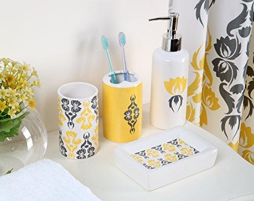 Yellow bathroom set