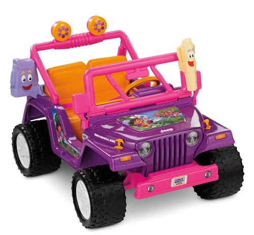 New Power Wheels Dora the Explorer Jeep Wrangler