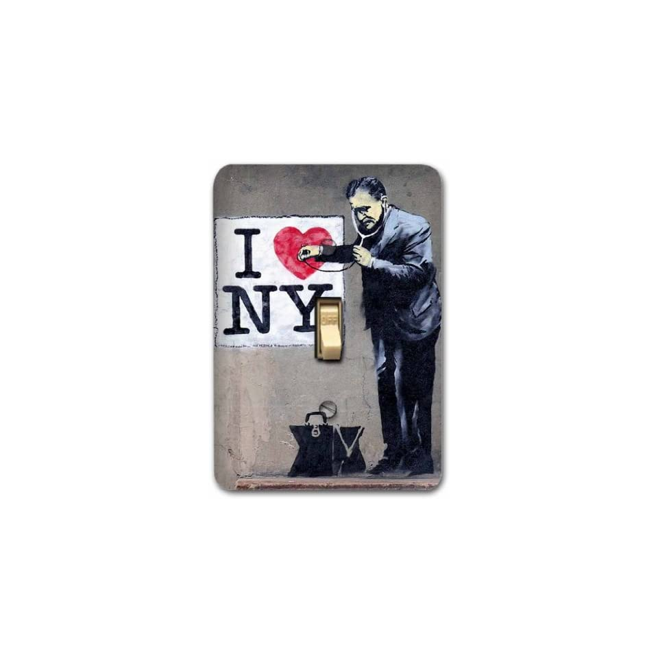 Banksy Graffiti Art Metal Light Switch Plate Cover Decorative Home Decor 607