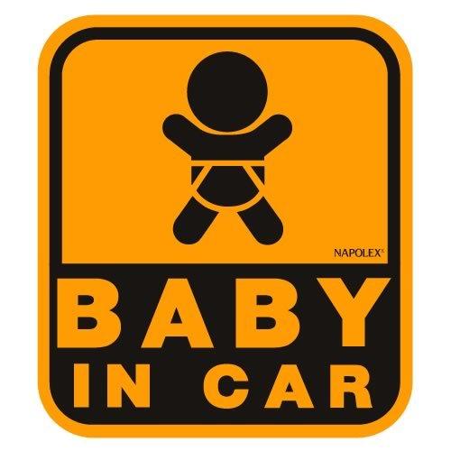 セーフティーサイン BABY IN CAR ウインドウステッカー 内貼 特殊吸盤 SF-19