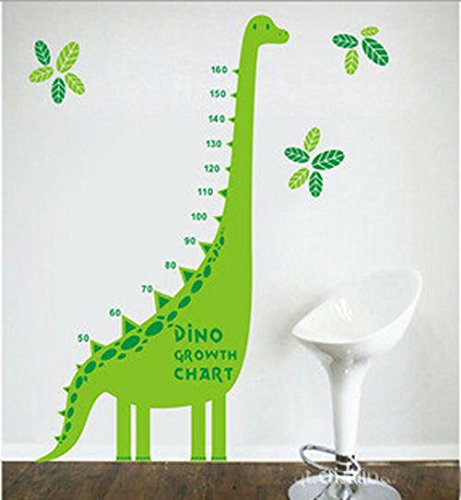 Green Dinosaur Growth Chart for Kids and Nursery Room