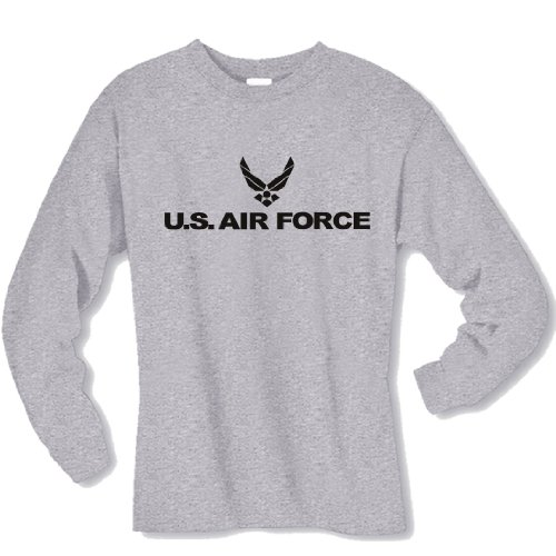 Air Force Long Sleeve T-Shirt in gray - Large (Air Force Shirts For Men compare prices)