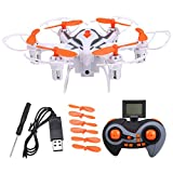 Voomall I6S 2.4G 4CH 6Axis Gyro Mini Drone 3D Flip One Key Return Nano Hexacopter RC Helicopter Quadcopter with 2MP HD Camera for Kids