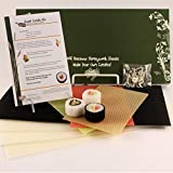 """100% Beeswax Candles - Make Your Own """"Sushi Candle"""" Kit"""