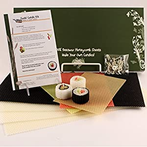 "100% Beeswax Candles - Make Your Own ""Sushi Candle"" Kit"