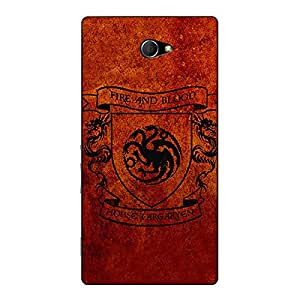 Jugaaduu Game Of Thrones GOT House Targaryen Back Cover Case For Sony Xperia M2 Dual