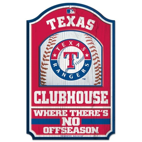 "Texas Rangers Official MLB 17""x11"" Wood Sign by Wincraft at Amazon.com"