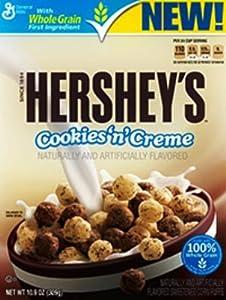 General Mills, Hershey's, Cookies 'n Creme Cereal, 10.9oz Box (Pack of 4)