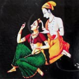 "Dolls Of India ""Shringar Of Radha By Krishna"" Reprint On Card Paper - Unframed (15.88 X 15.88 Centimeters)"
