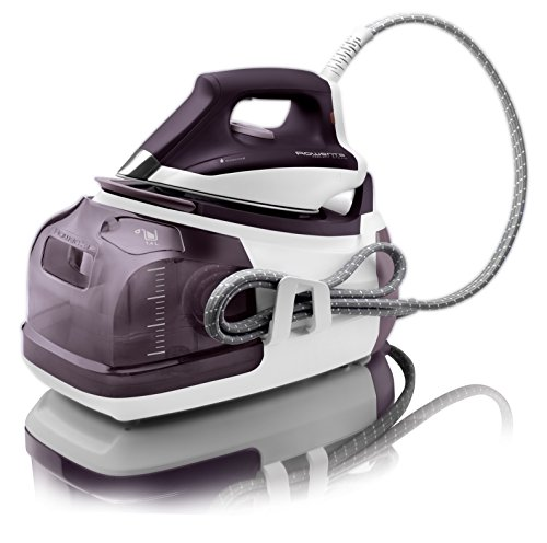 Rowenta DG8520 Perfect Steam Iron Station Eco Energy With 400-Hole Stainless Steel Soleplate, 1800-Watt, Purple