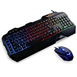 HAVIT Rainbow Backlit Wired Gaming Keyboard and Mouse Combo (Black) [ 2016 Model ]