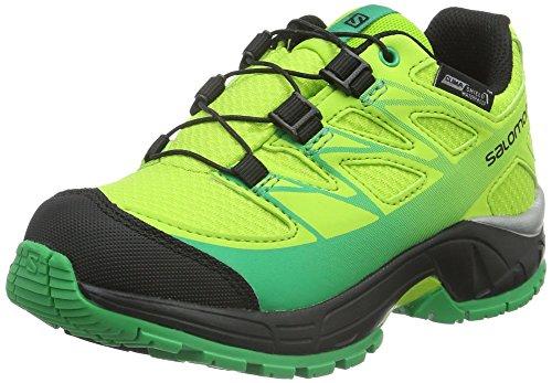SalomonWings CSWP - Scarpe Running Unisex - Bambini , Verde (Grün (Granny Green/Black/Real Green)), 29