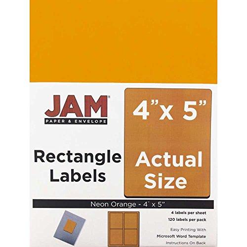 JAM Paper Mailing Address Labels - Extra Large - 4