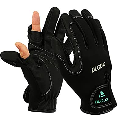 Goture Outdoor Sport 2 Cut Fingers Gloves Anti-slip Skidproof for Fishing Hunting Riding Cycling
