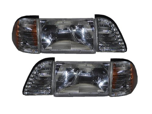Ford Mustang Headlights 12 Piece Stock GT LX Cobra Headlamps Set (1993 Ford Mustang Cobra compare prices)
