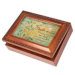 Daughter-in-Law Love Wood Finish Jewelry Music Box Plays Tune You Are My Sunshine