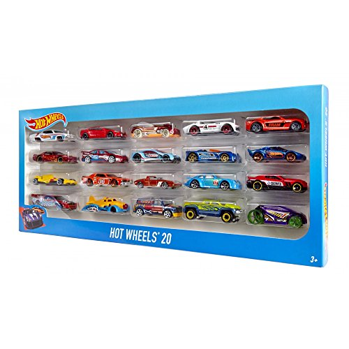 hot wheels 20 piece die cast vehicles gift pack for boys 2 4 years. Black Bedroom Furniture Sets. Home Design Ideas