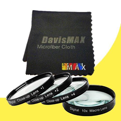 49mm Macro Close Up Kit for Sony Alpha NEX-F3 with Sony 30mm f/3.5 Macro Lens + DavisMAX Fibercloth Macro Bundle sale off 2015